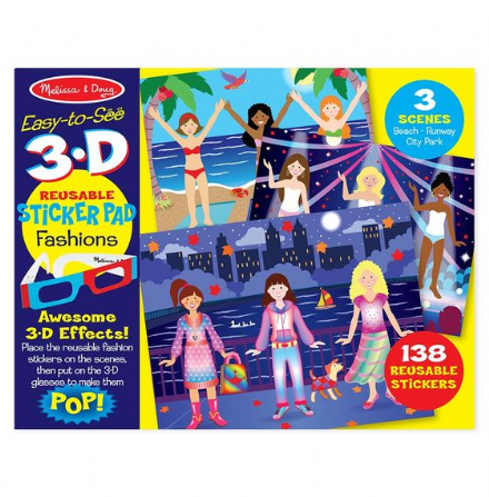 Melissa & Doug -3D Sticker Pad - Fashions